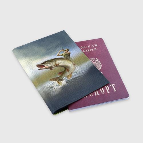 Обложка для паспорта матовая кожа Щука Фото 01