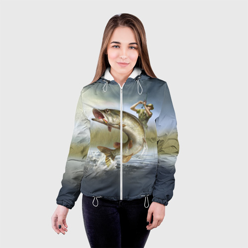 Женская куртка 3D Щука Фото 01
