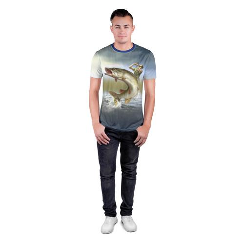 Мужская футболка 3D спортивная Щука Фото 01