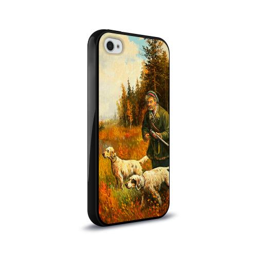 Чехол для Apple iPhone 4/4S силиконовый глянцевый  Фото 02, Охота