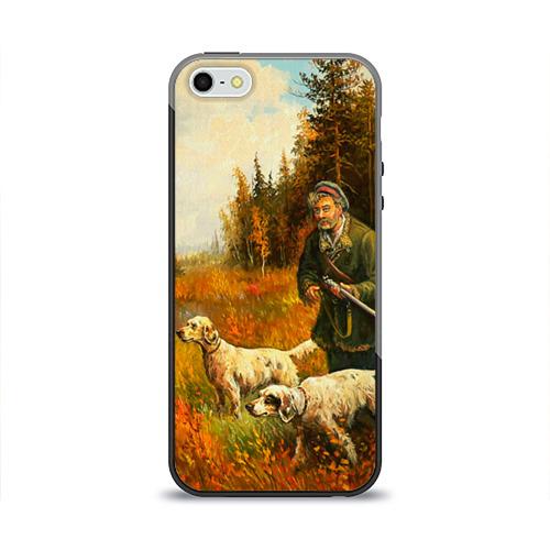 Чехол для Apple iPhone 5/5S силиконовый глянцевый Охота