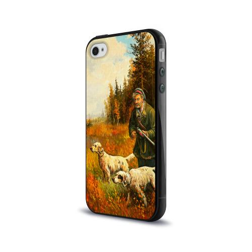 Чехол для Apple iPhone 4/4S силиконовый глянцевый  Фото 03, Охота