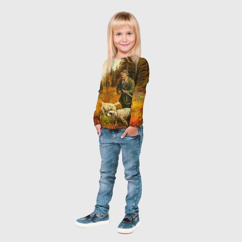 Детский лонгслив 3D  Фото 04, Охота