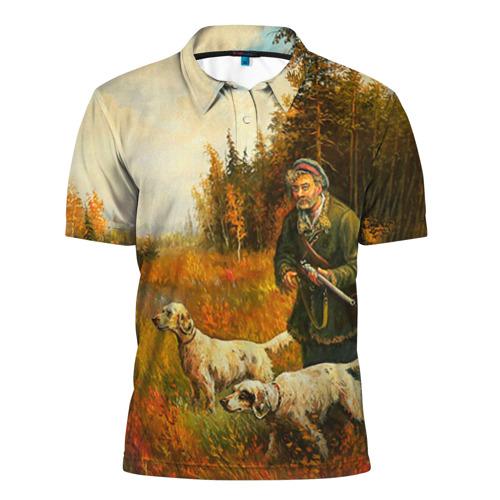 Мужская рубашка поло 3D Охота