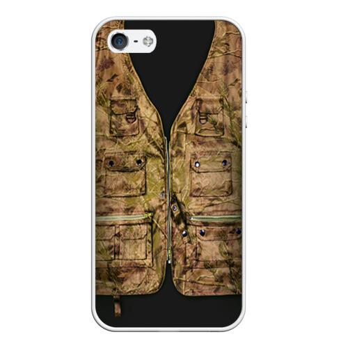 Чехол силиконовый для Телефон Apple iPhone 5/5S Жилетка охотника