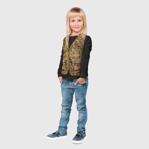 Детский лонгслив 3D  Фото 04, Жилетка охотника
