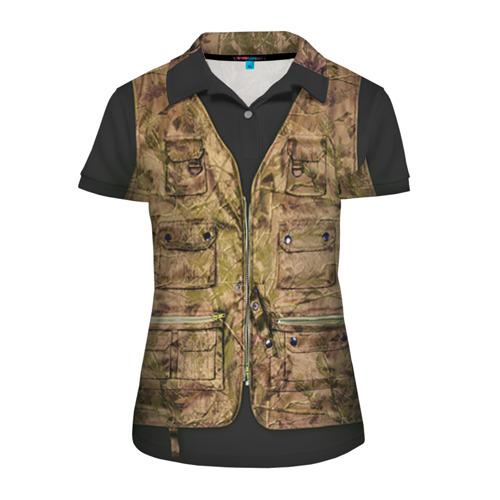 Женская рубашка поло 3D Жилетка охотника