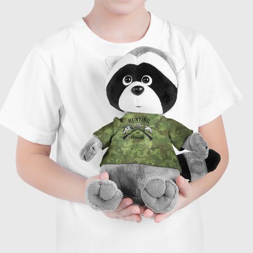 Енотик в футболке 3D  Фото 04, Охота и рыбалка