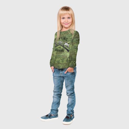 Детский лонгслив 3D  Фото 04, Охота и рыбалка