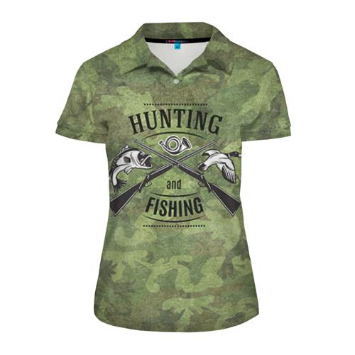 Женская рубашка поло 3D Охота и рыбалка