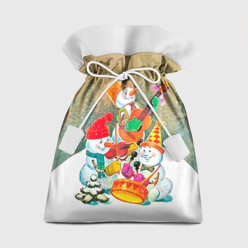 Подарочный 3D мешок Снеговики