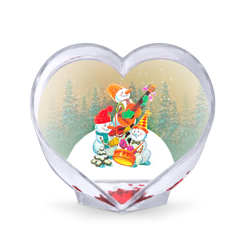Сувенир Сердце Снеговики от Всемайки