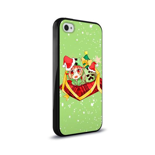 Чехол для Apple iPhone 4/4S силиконовый глянцевый  Фото 02, Minecraft