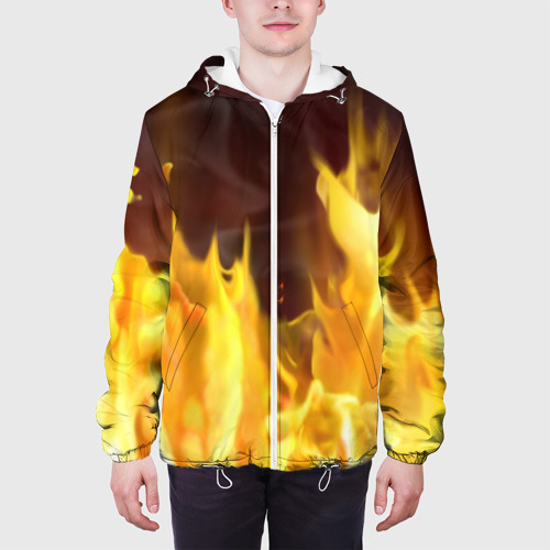 Мужская куртка 3D  Фото 04, Огонь
