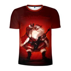 Дед мороз рокер - интернет магазин Futbolkaa.ru