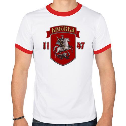 Мужская футболка рингер  Фото 01, Москва