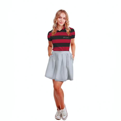 Женская рубашка поло 3D Свитер Курта Кобейна Фото 01