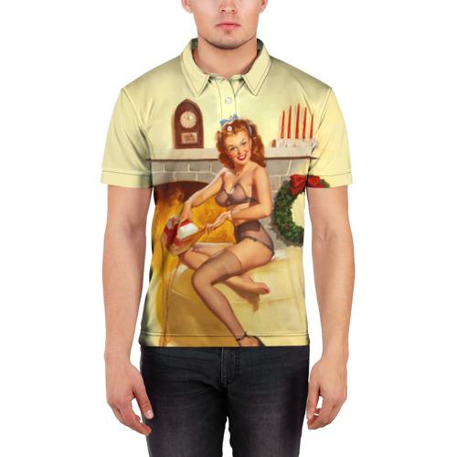 Мужская рубашка поло 3D  Фото 03, Pin up