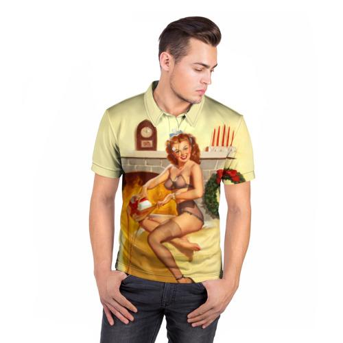 Мужская рубашка поло 3D  Фото 05, Pin up
