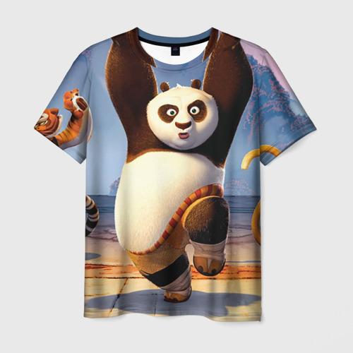 Мужская футболка 3D  Фото 03, Кунг фу панда