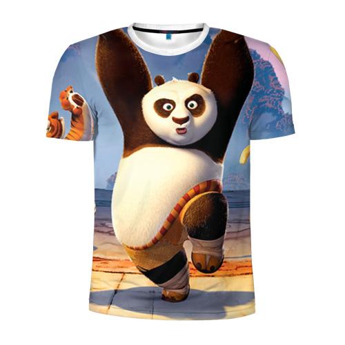 Мужская футболка 3D спортивная  Фото 01, Кунг фу панда