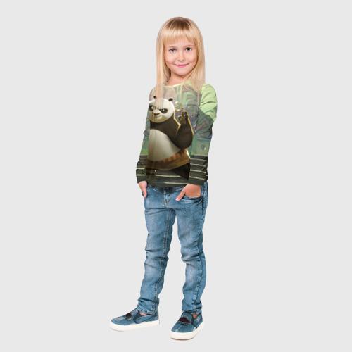 Детский лонгслив 3D  Фото 04, Кунг фу панда