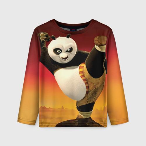 Детский лонгслив 3D  Фото 01, Кунг фу панда