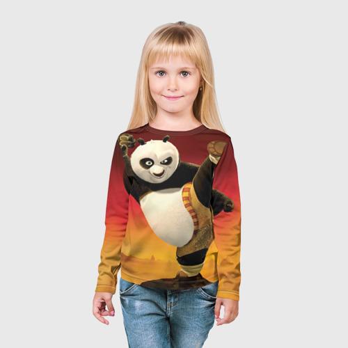 Детский лонгслив 3D  Фото 03, Кунг фу панда