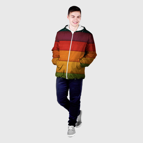 Мужская куртка 3D  Фото 03, Colored fence