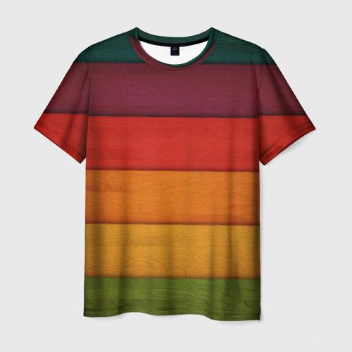 Мужская футболка 3D  Фото 03, Colored fence