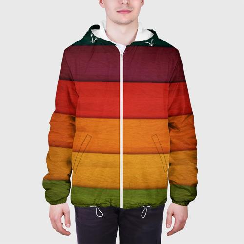 Мужская куртка 3D  Фото 04, Colored fence