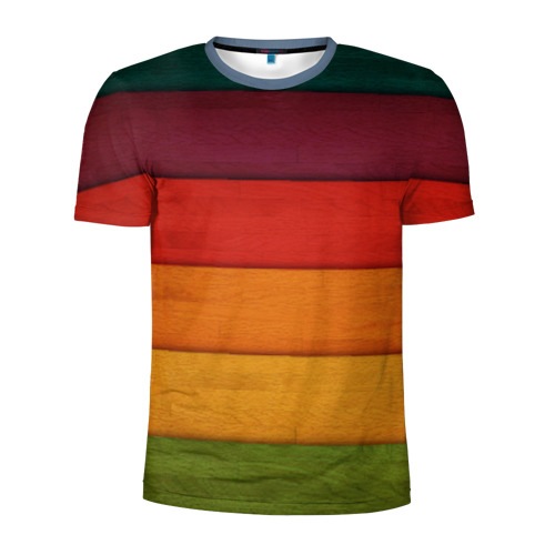 Мужская футболка 3D спортивная Colored fence