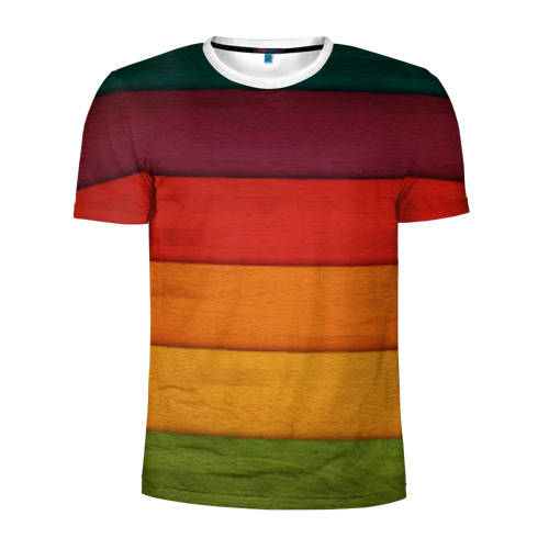 Мужская футболка 3D спортивная  Фото 01, Colored fence