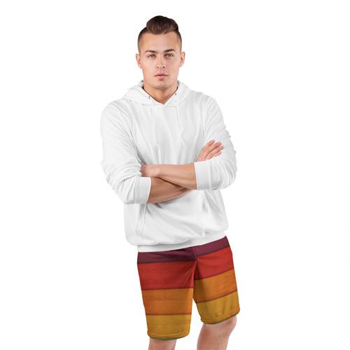 Мужские шорты 3D спортивные  Фото 05, Colored fence