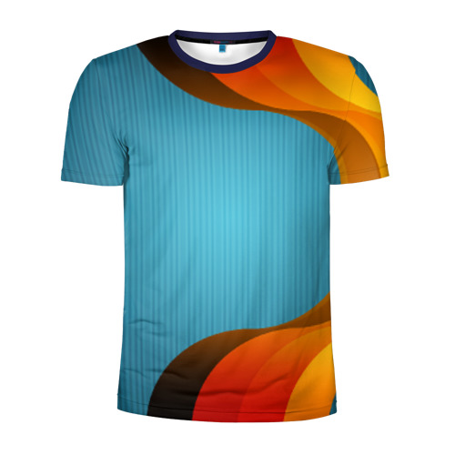 Мужская футболка 3D спортивная Цветные линии