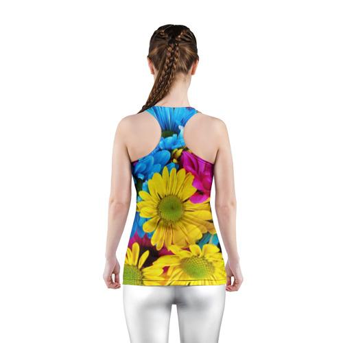 Женская майка 3D спортивная  Фото 04, Цветы