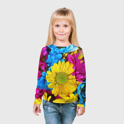 Детский лонгслив 3D  Фото 03, Цветы