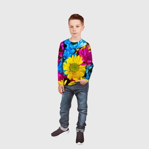 Детский лонгслив 3D  Фото 05, Цветы