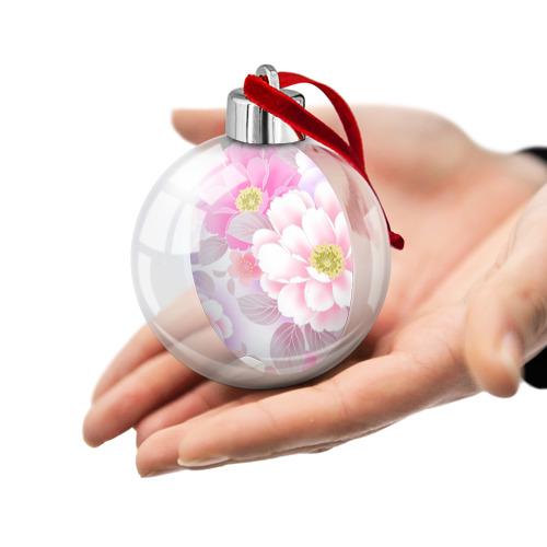 Ёлочный шар  Фото 02, Цветы