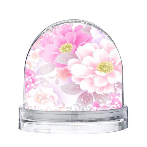 Водяной шар со снегом Цветы