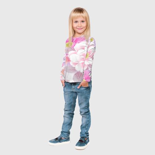 Детский лонгслив 3D  Фото 04, Цветы