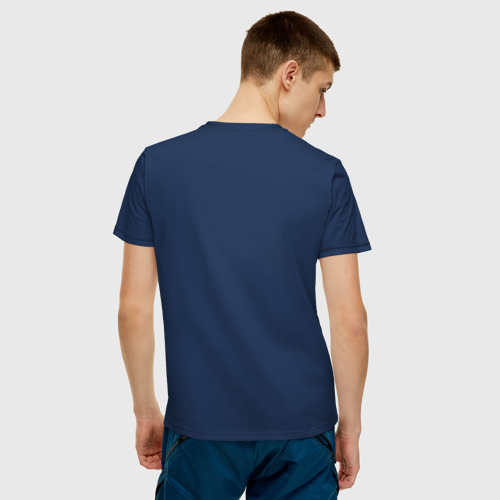 Мужская футболка хлопок  Фото 04, Синий компаньон