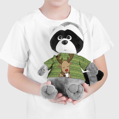 Енотик в футболке 3D Олень с кружкой Фото 01