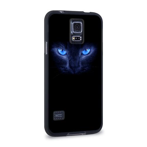 Чехол для Samsung Galaxy S5 силиконовый  Фото 02, Кошка с голубыми глазами