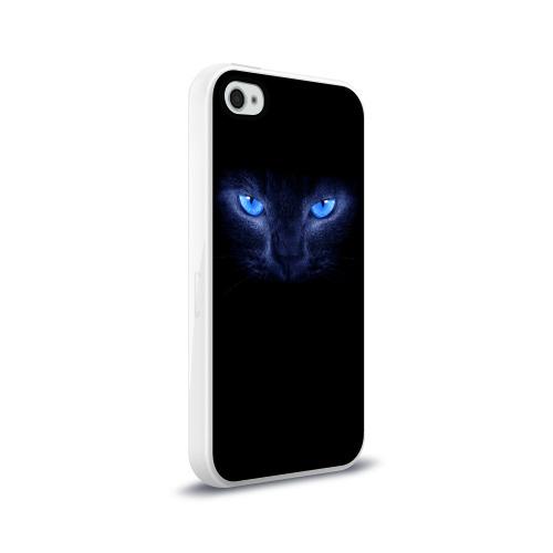 Чехол для Apple iPhone 4/4S силиконовый глянцевый  Фото 02, Кошка с голубыми глазами