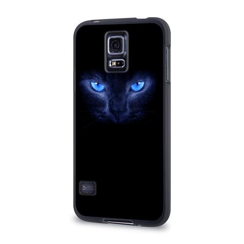 Чехол для Samsung Galaxy S5 силиконовый  Фото 03, Кошка с голубыми глазами