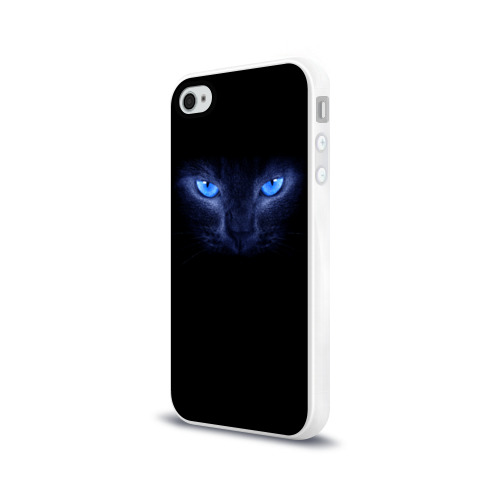 Чехол для Apple iPhone 4/4S силиконовый глянцевый  Фото 03, Кошка с голубыми глазами