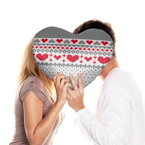 Подушка 3D сердце  Фото 03, Сердечки