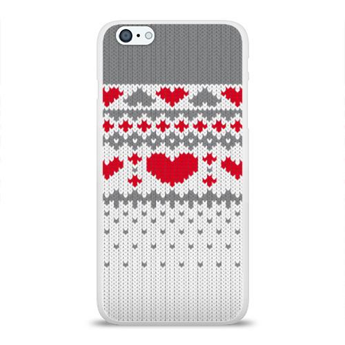 Чехол для Apple iPhone 6Plus/6SPlus силиконовый глянцевый  Фото 01, Сердечки