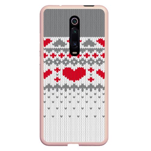 Чехол для Xiaomi Redmi Mi 9T Сердечки Фото 01